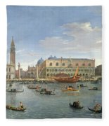 View Of Venice From The Island Of San Giorgio Fleece Blanket