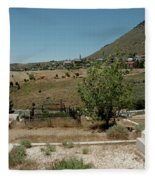 View Of Virginia City Nv From The Final Resting Place Fleece Blanket