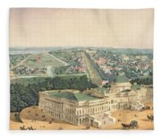 View Of Washington Dc Fleece Blanket