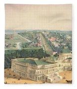 View Of Washington Dc Fleece Blanket