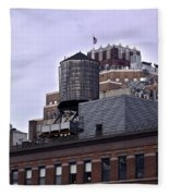 View Of Water Tank From High Line Park Fleece Blanket