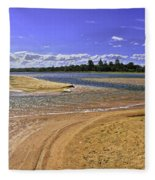 View Of Wollumboola Lake From Sand Dunes Fleece Blanket