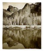View Of Yosemite Fleece Blanket