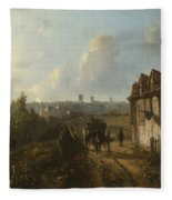 View On Montmartre Fleece Blanket