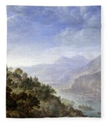 View On The Rhine Fleece Blanket