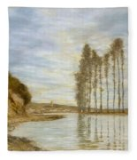 View On The Seine,  Harp Of The Winds , Homer Dodge Martin Fleece Blanket