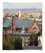 View Over Bristol With Bristol Grammar School Fleece Blanket