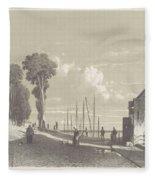 View The Veerweg Culemborg, Jan Weissenbruch, 1847 - 1865 Fleece Blanket