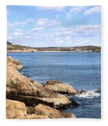 View To Sand Beach Fleece Blanket