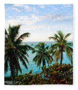 View To The 7 Mile Bridge Fleece Blanket