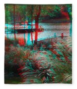 View To The Cove - Use Red-cyan 3d Glasses Fleece Blanket