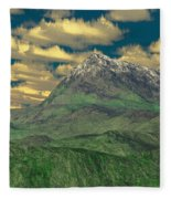 View To The Mountain Fleece Blanket