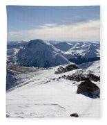 View To The Southwest From Elbert Fleece Blanket