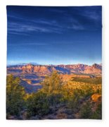 View Zion From Afar Fleece Blanket