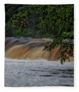 Viewing Tahquamenon Lower Falls Upper Peninsula Michigan 02 Fleece Blanket