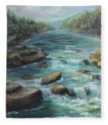 Viewing The Rapids Fleece Blanket