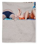 Views At The Beach Fleece Blanket