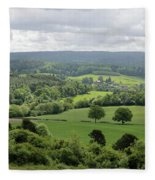 View Of The Surrey Hills From Newlands Corner Fleece Blanket