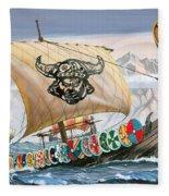 Viking Ship Fleece Blanket