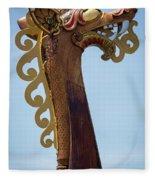 Viking Ship Dragon Head Fleece Blanket