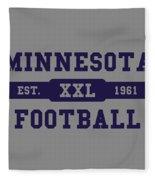 Vikings Retro Shirt Fleece Blanket