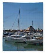 Vilamoura Marina 5 Fleece Blanket
