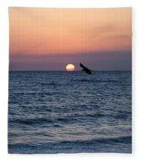 Vilano Beach At Sunrise Fleece Blanket