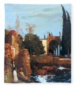 Villa By The Sea 1878 Fleece Blanket