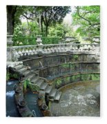 Villa Lante Garden Fleece Blanket