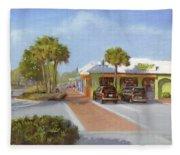 Village Cafe, Siesta Key Fleece Blanket