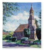 Village Church  Fleece Blanket