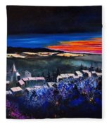 Village In A Winter Morninglight Fleece Blanket