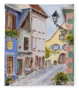 Village In Alsace Fleece Blanket