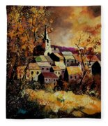 Village In Fall Fleece Blanket