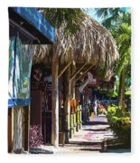 Village Life II - Siesta Key Fleece Blanket