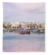 Village Of Fishermen Fleece Blanket