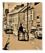 Village Scene Ireland Fleece Blanket