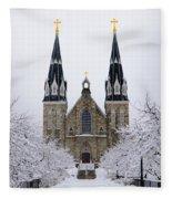 Villanova University After Snow Fall Fleece Blanket
