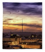 Vilnius Tv Tower Fleece Blanket