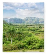Vinales Valley Fleece Blanket