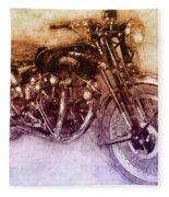 Vincent Black Shadow 2 - Standard Motorcycle - 1948 - Motorcycle Poster - Automotive Art Fleece Blanket