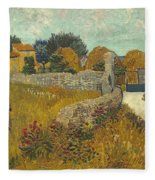 Vincent Van Gogh, Farmhouse In Provence Fleece Blanket