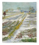 Vincent Van Gogh, Landscape With Snow Fleece Blanket