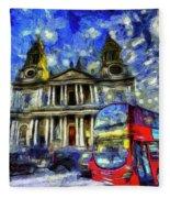Vincent Van Gogh London Fleece Blanket