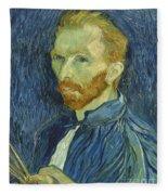 Vincent Van Gogh Self-portrait 1889 Fleece Blanket