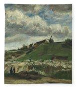 Vincent Van Gogh, The Hill Of Montmartre With Stone Quarry, Paris Fleece Blanket
