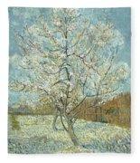 Vincent Van Gogh, The Pink Peach Tree Fleece Blanket