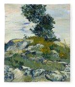Vincent Van Gogh, The Rocks Fleece Blanket