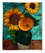 Vincent's Sunflowers 2 Fleece Blanket
