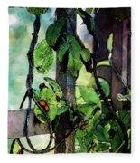 Vine And Trellis Digital Watercolor 4472 W_2 Fleece Blanket